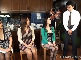 Asian,Japanese,Dildos/Toys,Group Sex,Mature,Babes These horny mature chicks can get...