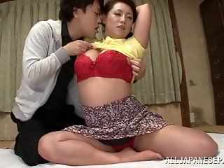 Asian,Japanese,Mature,Big Tits,Blowjob,Cumshots,Shaved,Hardcore,Lingerie,Fingering Neko Ayami is a...