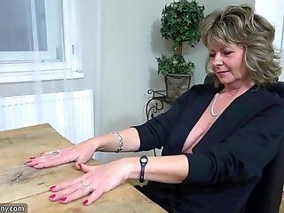 Lesbian;Amateur;Mature;Blonde;HD Oldnanny Old mom...