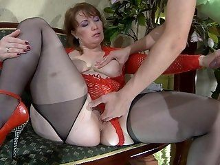 Hardcore,Mature,Stockings,Redhead,Fingering Curvaceous older chick Flo was...