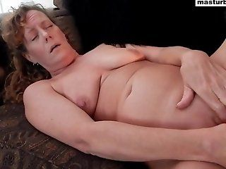 Amateur;Mature;Masturbation;HD Couch solo and...