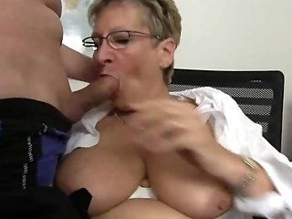 Mature,Blonde,Big Tits,MILFs Old and Horny granny with amazing...