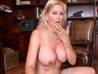 Mature,Oldie,Big Tits,Blonde Horny granny...