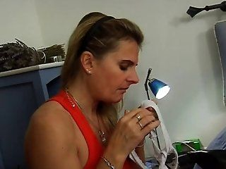 Mature,European,Oldie European French horny mom seduces a...