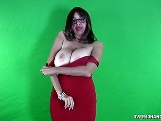 Big Tits;Mature;HD Old stripper POV handjob