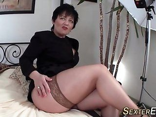 Blowjob;Mature;MILF;HD Busty german milf sucks
