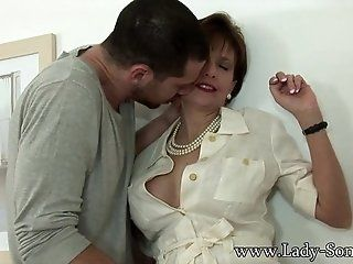 Big Tits;Mature;MILF;HD Lady Sonia gets...