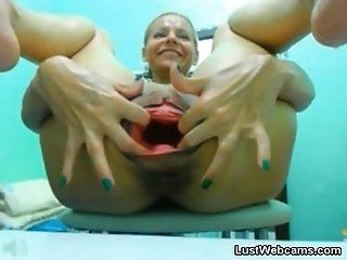 Mature;Squirting;Masturbation;Blonde Giant dildo...