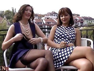 European,Mature,Stockings Classy british babes in stockings and...