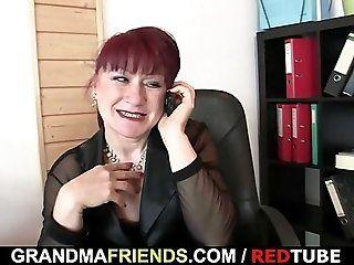 Group;Mature;Facials;Redhead Office bitch...