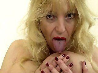 Big Tits;Mature;MILF;Masturbation;Blonde;Lingerie;HD ROKO VIDEO-solo...
