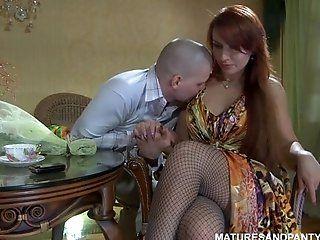 Mature;Redhead Russian sex video 62
