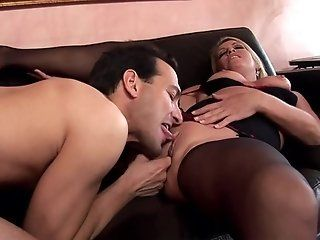 Big Tits;Mature;MILF;Blonde;Creampie;Lingerie;HD Chelsea fucked in...