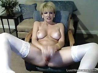 Mature;Masturbation;Blonde Busty mature...