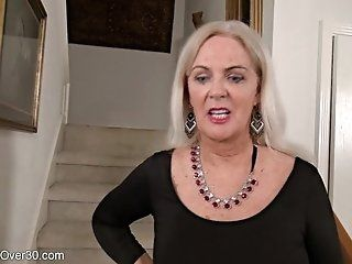 Big Tits;Mature;Masturbation;Blonde;HD Judy Mayflower