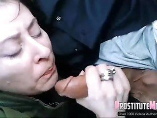 Blowjob;Amateur;Mature Chick Sucking Strangers Dick in the Car
