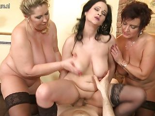 with mom Mature group sex