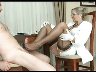 Foot Fetish;Matures;MILFs;Stockings;Footjob;Nylon Footjob;Stockings Footjob;Nylon Stockings;MILF Footjob;MILF Stockings Milf ALA footjob in nylon stockings