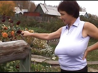 Amateur;BBW;Big Boobs;Matures;Russian;Farm Russian Huge-Boobs-MILF on her Farm