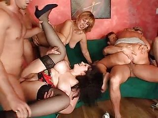Big Boobs;Group Sex;Matures;Orgy;Mummies Orgy of mummies N.2