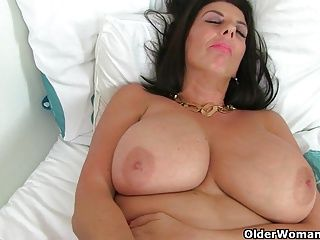 British;Grannies;Matures;MILFs;Stockings;Dildo;British MILF;Older Woman Fun British milf Lulu...