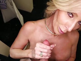 Cougars;Grannies;Matures;MILFs;Old+Young;HD Videos;Old 51yr old Step-Mom Handjob