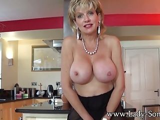 Big Boobs;British;JOI;Matures;MILFs;HD Videos;British Lady;British MILF;Lady Sonia Jerkoff instructions with British...