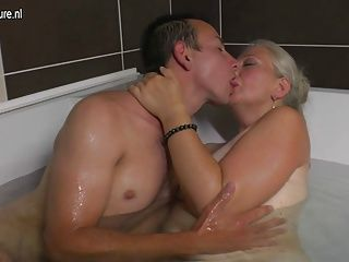 Amateur;Grannies;Matures;MILFs;Old+Young;HD Videos;Bathtub;Young Cock;Mature Young;Slut;Young;Mom;Mature NL Mature slut mom takes young cock in...