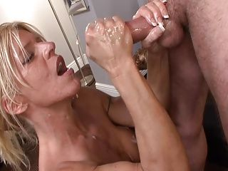 Big Boobs;Handjobs;Matures;MILFs;Old+Young;Top Rated;Boss;Mother;Big Tits;Domination;Young Man;Crazed;MILF Cock COCK CRAZED MILF STROKES BOSS'S...