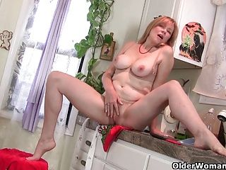 Amateur;Grannies;Masturbation;Matures;MILFs;Kitchen;Mother;Housewife;Wife;Hairy Mom;Hairy MILF;Hairy Wife;Hairy Mature;MILF Pantyhose;Granny;GILF;Solo;Grandma;American;Pantyhose;Older Woman Fun Mom rather masturbates than clean up...