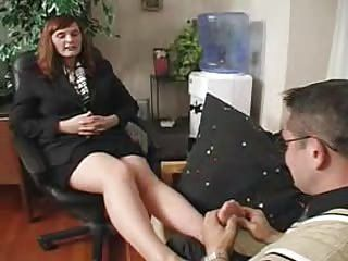 Femdom;Matures;Nylon;Stockings;Boss;In Pantyhose;Pantyhose Boss in Pantyhose Gets What She Wants
