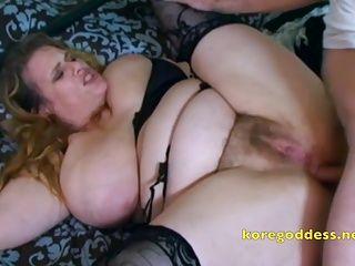 Unshaven big boobs