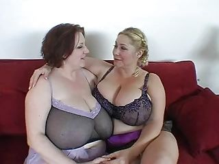 BBW;Big Boobs;Matures;MILFs;Threesome;Share Cock;Big Cock Two Big Tit BBWs...