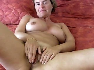 Masturbation,Public,Big Tits,Mature Big melons of...