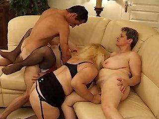 Mature,Group Sex,MILFs One lucky guy...