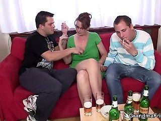 Group;Mature;HD Two guys enjoy...