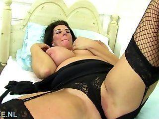 Big Tits;Mature;Masturbation Huge titted...