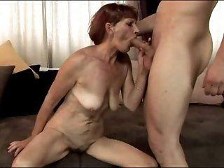 Mature,Redhead,Blowjob,Oldie Kinky mature mom...