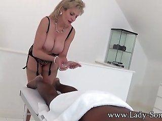 Big Tits;Blowjob;Cumshot;Mature;Interracial;Blonde;Lingerie;HD Lady Sonia black...