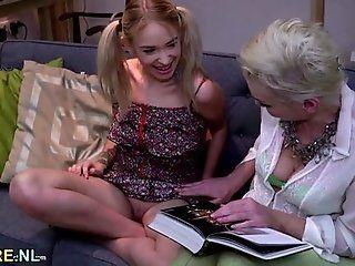Lesbian;Mature;MILF;Blonde;HD Blonde mature...