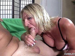 Blowjob;Cumshot;Mature;Blonde;HD Cumblast for the...