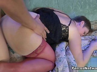 Anal,Mature,Stockings,Brunette,Fingering This lusty...