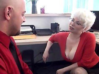 Big Tits;Cumshot;Mature;Blonde Punishment Handjob