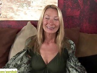 Mature;Masturbation;Blonde Older cougar Pam...
