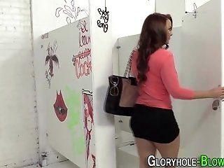 Blowjob;Cumshot;Mature;HD Gloryhole slut...