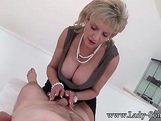 Big Tits;Cumshot;Mature;Blonde;HD Lady Sonia first timer Massage table...