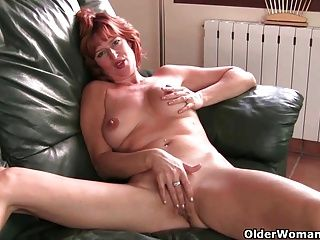 Fingering;Masturbation;Matures;MILFs;Redheads;Redhead;Masturbating;Big Tits;Natural Tits;British MILF;Hot Mature;Mature Solo;Granny;Mother;Grandma;GILF;Finger Fuck;English;Old;Older;Older Woman Fun British milf...