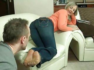 Foot Fetish;Matures;Pornstars;Footjob;Nylon Footjob;Mature Footjob mature nylon...