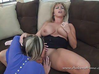 Amateur;Big Boobs;Lesbians;Matures;MILFs;HD Videos;Lipstick Lesbians;Lipstick;Amber At Home Amber and Melissa...