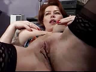 Matures;Reality;Panties;Big Tits;Teasing;Pussy Licking;Solo;Redhead;Classic mature video